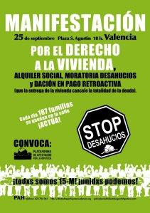 Manifestación 25-S por una vivienda digna